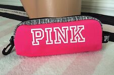 Victoria's Secret Pink Mini Pouch Hot Pink Gray Marl Black White Pencil Case