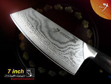 "Japanese Vg10 Damascus All Purpose Knife 7"" Vegetable Cleaver Kitchen Cutlery"