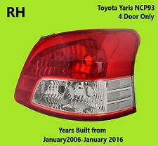 Toyota Yaris 2006 2007 2008 2009 2010 2011 2012 2014 2016 TAIL LIGHT RIGHT SIDE
