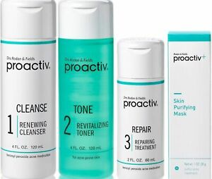 Proactiv 4pc 60 day Kit WITH Skin Purifying Mask Proactive - ONE TIME ONLY SHIP!
