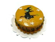 Halloween Cake Witch Top Dollhouse Miniatures Food Deco Happy Holiday Season 1