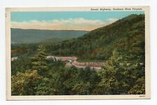 Linen Postcard,Scenic Highway,Southern West Virginia