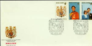 1981 Belize/British Honduras FDC SC 548-50 Royal Wedding, Diana & Charles