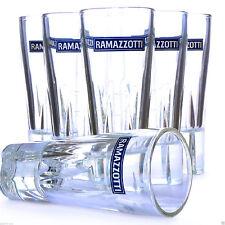 Ramazzotti Glas Gläser 6 Stück italienischer Kräuter Likör Italien Ramazzoti