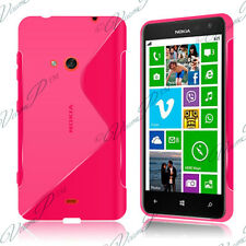 Housses Coque Etui Rose TPU S Silicone GEL Motif S Vague Films Nokia Lumia 625