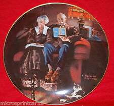 """Evening's Ease"" 1983 Collector Plate by Norman Rockwell"