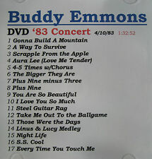 Pedal Steel Guitar '83 Concert Buddy Emmons on DVD