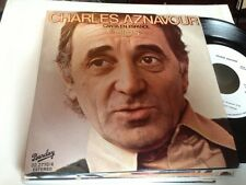 "CHARLES AZNAVOUR SUNG IN SPANISH 7"" SINGLE SPAIN WHITE LABEL - DIOS"
