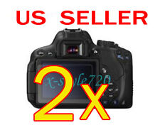 2x Canon EOS 650D Rebel T4i Clear LCD Screen Protector Guard Shield Film