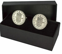 SHILLING COIN CUFFLINKS CHOICE OF DATE 1947 TO 1966 PERFECT BIRTHDAY PRESENT