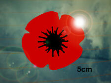 Remembrance Poppy Car Decal/Sticker Small *WW2*WW1*Lest We Forget*Memorial*
