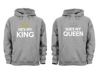 Couples Matching Hoodies Queen King Love Matching Couple Grey Unisex S-6X