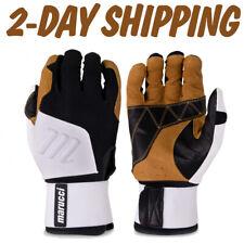 Marucci Blacksmith White/Black Full Wrap Batting Gloves-SM,MED,LG,XL >2-DAY SHIP