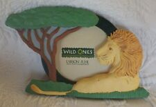Wild Ones Larson Juhl Lion Picture Photo Frame Holds Round Photo