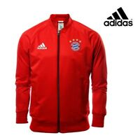 Adidas Mens FC Bayern Munich Anthem Jacket Red Football Soccer Free Tracked Post