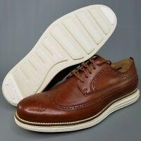 Cole Haan OriginalGrand Wingtip Leather Oxfords Mens Size 7.5 Brogue Brown Tan