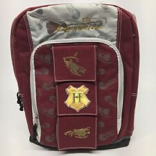 Harry Potter Quidditch Backpack Book Bag Maroon Gray Gold