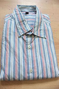 BODEN  mens striped  cotton  long sleeve  shirt   size XL  NEW