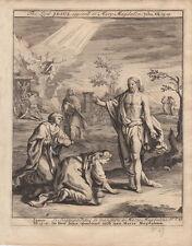 Maria Magdalena erscheint Jesus Johannes Bibel Orig Kupferstich 1710