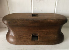 Rare Antique Wooden Maritime Boat Cleat/ Mooring Bitt