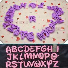 26 Alphabet Mould Disney Design Letter Cutter Cookie Stamp Embosser Cake Mould