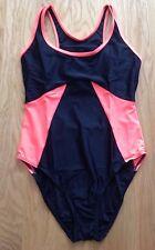 Resort - Black & Orange Racer Backed Swimming Costume - Size 18 - BNIB