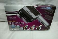 Conair Bristle Brush Styling System 1875 Watt 3 Combs Cool Shot New in Box