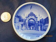 6 Miniture collector royal copenhagen plates from Denmark,no cracks or chips.
