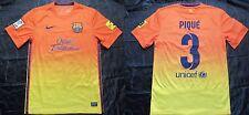 GERARD PIQUE #3 BARCA 2012-2013 Nike FC Barcelona Away Maglia uomo/Taglia S