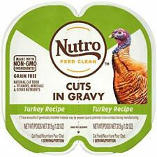 NUTRO PERFECT PORTIONS Cuts in Gravy Real Turkey Wet Cat Food Trays 2.65 Ounc...
