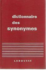 X39 Dictionnaire des Synonymes Larousse 1967 In francese