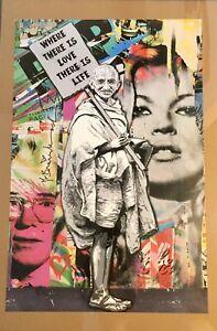 Mr. Brainwash MBW GHANDI 23 x 35 Poster Print 2011 Kate Moss Andy Warhol Obey LA