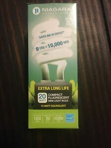 Niagara Conservation 20W 75 Watt Equivalent  Extra Long Life Light Bulb