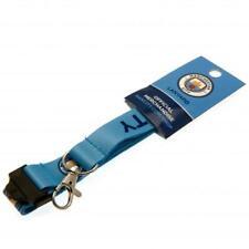 MANCHESTER CITY FC ID I.D. LANYARD DETACHABLE KEYRING STRAP BADGE NEW XMAS GIFT