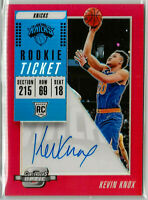 2018-19 KEVIN KNOX Contenders Optic Red Rookie Auto Variation /149 SP Knicks