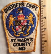 ST. MARY'S COUNTY MARYLAND SHERIFF PATCH (HIGHWAY PATROL, SHERIFF, EMS)