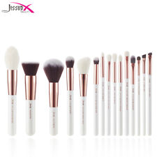 Jessup Professional Makeup Brushes Set - Pearl White/Silver (15 Pieces) (T240)