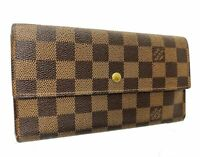Louis Vuitton Long Wallet N61734 Portefeuille Sarah Browns Damier E-1032