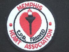 """CPR TRAINED MEMPHIS HEART ASSOCIATION EMBROIDERED SEW ON ONLY PATCH  UNIFORM 3"""""""