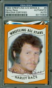 Harley Race 1982 Wrestling All Stars Series A #8 PSA DNA Certified