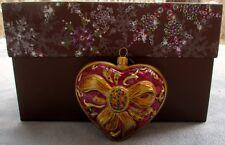 Jay Strongwater Jewel Heart Ornament Swarovski Elements New In Box