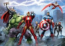 MARVEL Avengers A4 stampa poster art IRON MAN/THOR/Hulk 260GSM