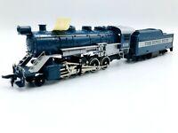 "HO Scale TYCO 245-02 ""The Royal Blue"" 2-8-0 Steam Locomotive & Tender W/ Smoke"