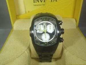 Invicta Lupah Revolution Swiss Quartz Chronograph Gunmetal Steel Bracelet