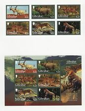 Gibraltar #1353-58a, 6V+S/S, Cromalin Proofs, Cartor Folder, Endangered Animals