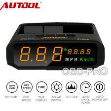 Auto GPS HUD Head Up Display Tachometer Geschwindigkeit Speed Warning Solar DHL