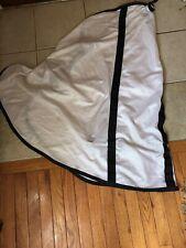 Mosquito Fly Neck Piece Sz White/black Trim Sz Large Fly Bug Sheet Accessory