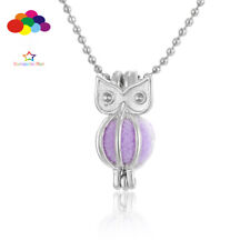 Aroma Diffuser owl love Mini Necklace Lockets Perfume Essential Oil Aromatherapy