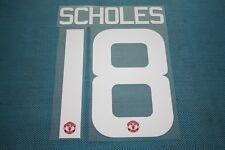 Premier League 2015-2016 Manchester United #18 Scholes HomeKit Nameset Printing
