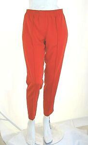 Pantaloni Donna VIOLET ATOS LOMBARDINI Italy H113 Affusolato Rosso Tg 42 44